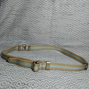 Gucci Web Stripe Canvas Belt